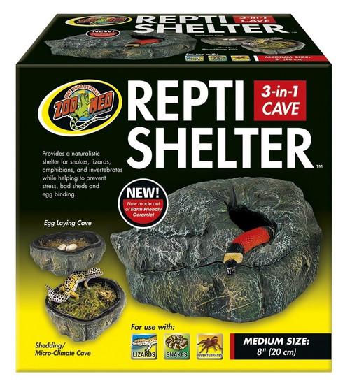 Repti Shelter 3 in 1 Cave Medium