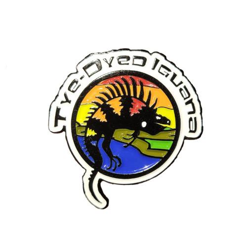 Tye-Dyed Iguana Pride Pin