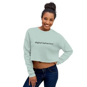 Digital Behaviour Crop Sweatshirt