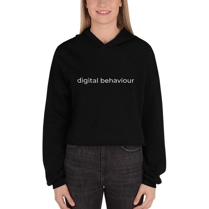 Digital Behaviour Crop Hoodie