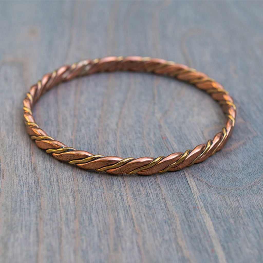 Tansy's Twisted Copper Bangle
