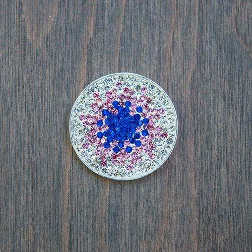 Sophia's Pink and Blue Starburst Magnetic Charm is part of our magnetic charm and base collection and fits into any of Avalee's Glamour magnetic base necklaces.