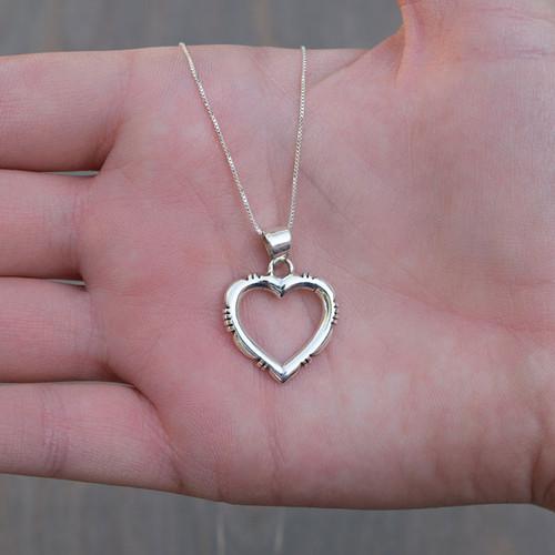 Helen's Sterling Heart Necklace