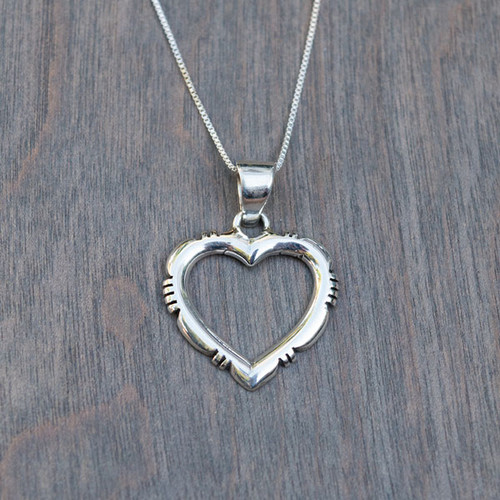Helen's Sterling Heart Necklace