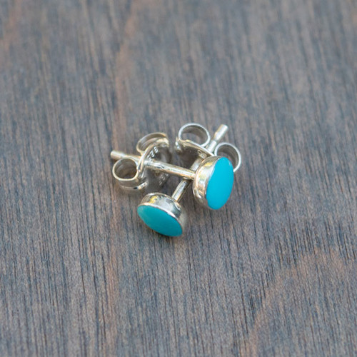Sally's Turquoise and Sterling Studs
