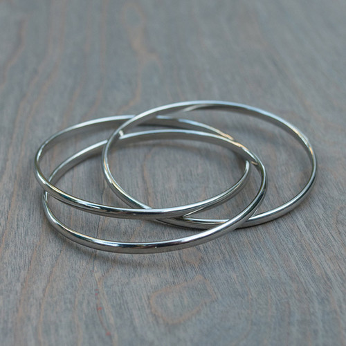 Trixie's Triple Stainless Bangle