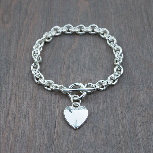 Hailey's Heart Link Bracelet.