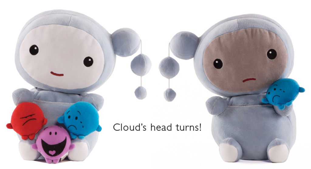 """Kimochis® Cloud 13"""" Plush Character in a Canvas Bag"""