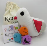 """Kimochis® Lovey Dove 13"""" Plush Character in a Canvas Bag"""