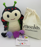 """Kimochis® Bug 13"""" Plush Character in a Canvas Bag"""