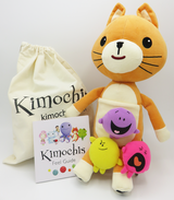 """Kimochis® Cat 13"""" Plush Character in a Canvas Bag"""