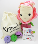 """Kimochis® Bella Rose 13"""" Plush Character in a Canvas Bag"""
