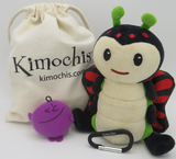 """Kimochis® Bug 6"""" Plush Character in a Canvas Bag"""