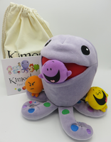 """Kimochis® Huggtopus 13"""" Plush Character in a Canvas Bag"""