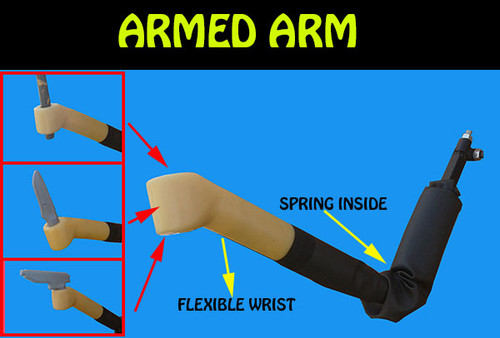 armed arm for martial arts training
