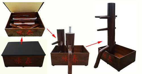 KUNG FU BOX  , WOODEN DUMMY IN A BOX