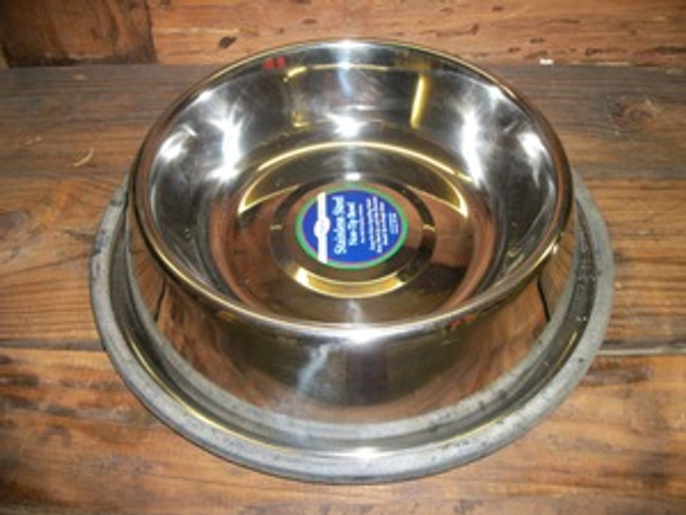 Non-Tip Stainless Steel 3qt. Bowl