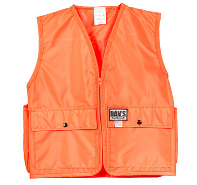 Dan's Kid's Blaze Orange Vest Small