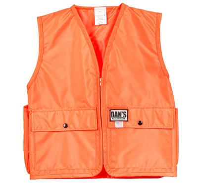 Dan's Kid's Blaze Orange Vest Large