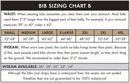 Dan's High-N-Dri Brown Waterproof Bibs 30-48