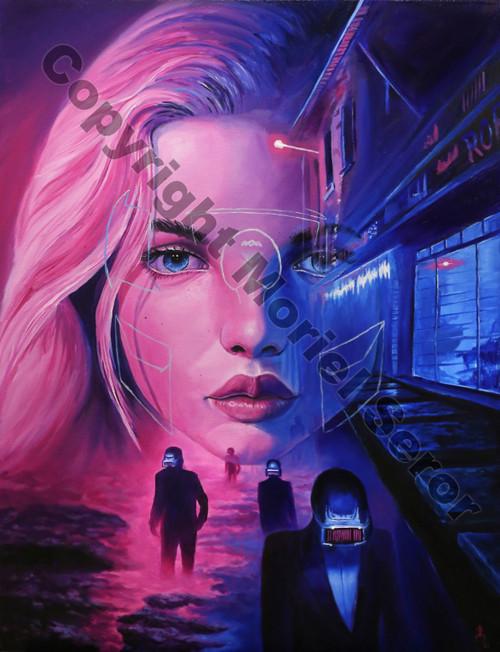 Cyber Girl Print on AluDibond