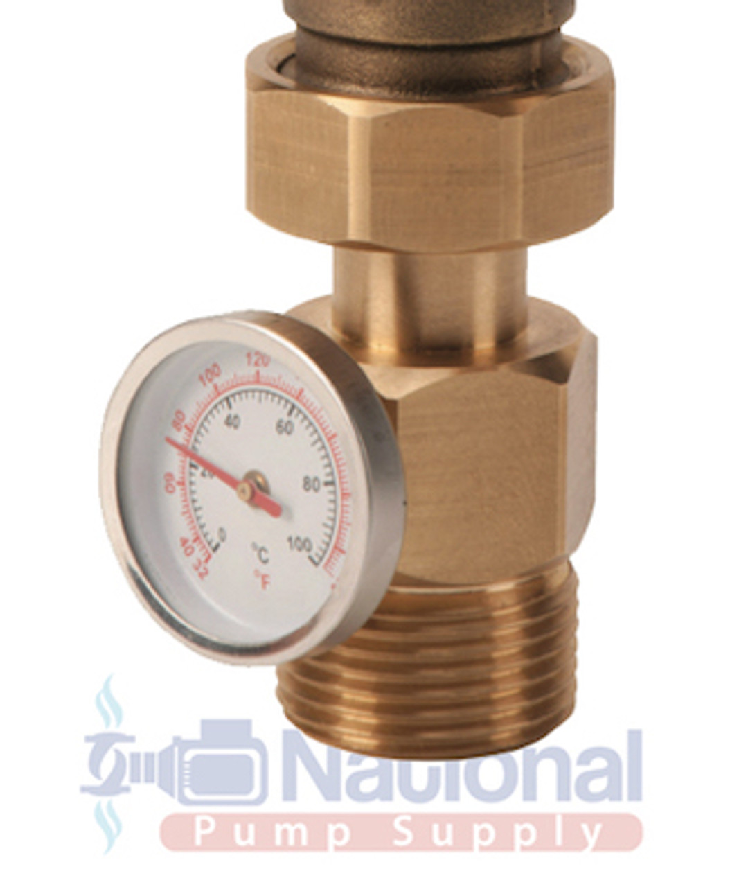 5003 T3 G Taco Mixing Valve 3 4 Npt Maleunion Connections W Gauge National Pump Supply