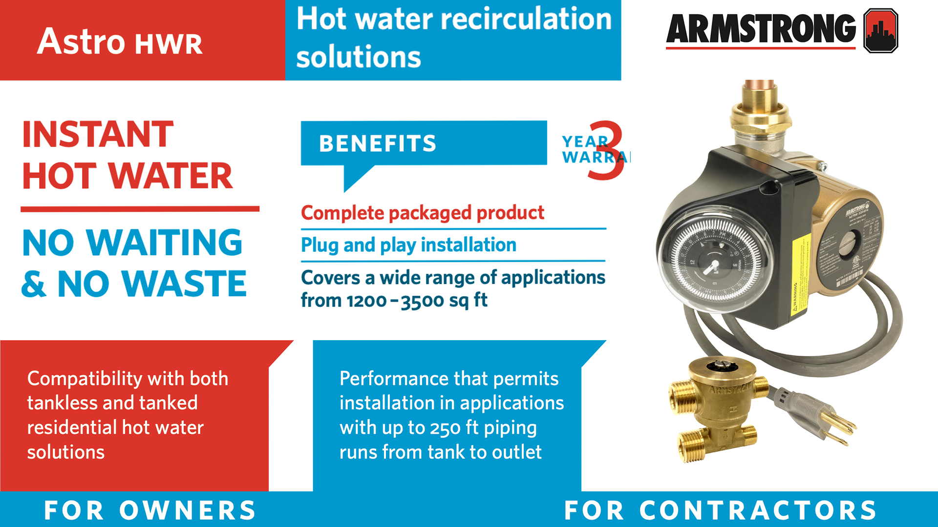 Armstrong Astro Instant Hot Water Circulating Pump