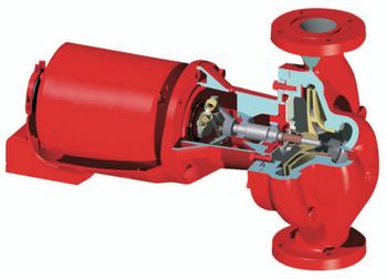 172752LF Bell & Gossett 616T Series 60 Pump With 1 HP Motor