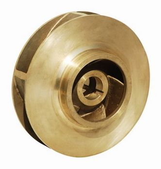 "P50802 Bell & Gossett Bronze Pump Impeller 7"" OD SM Bore"