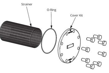 386-2411-5RP Taco Strainer & O-Ring Kit