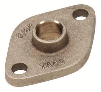 """110-522BSFL Taco Bronze Sweat Pump Flange 1/2"""" SWT"""