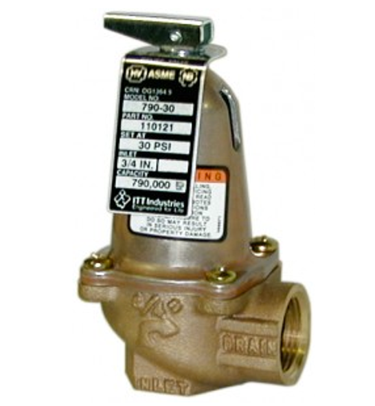 110135 Bell & Gossett 1170-125 ASME Safety Relief Valve