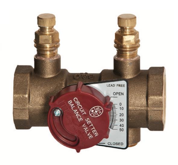 "117401LF Bell & Gossett CB-1S Circuit Setter Balance Valve 1"" Sweat"
