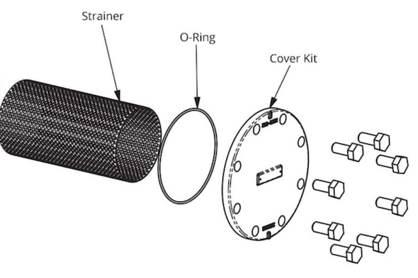 386-2416-5RP Taco Strainer & O-Ring Kit