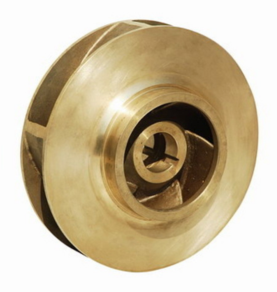 "P85423 Bell & Gossett Bronze Impeller 9-1/2 "" OD 1-1/4"" Bore"