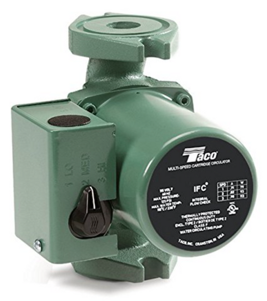 0015-MSF3-1IFC Taco Cast Iron 3 Speed Circulating Pump Rotated Flange