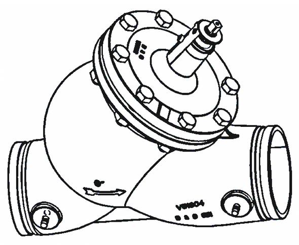 """117476 Bell & Gossett Circuit Setter Balance Valve CB-4G 4"""" (Grooved)"""