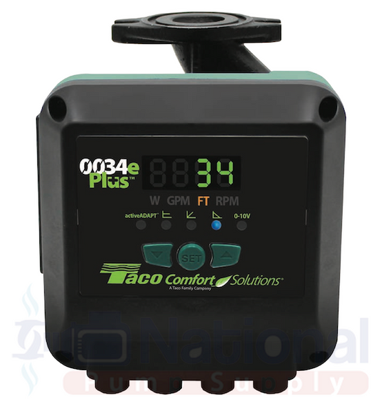 0034eP-F2 Taco ECM High Efficiency Circulator Pump Digital