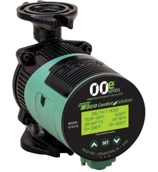 VT2218-HY2-4C1A00 Taco ECM High Efficiency Circulator 4 Bolt