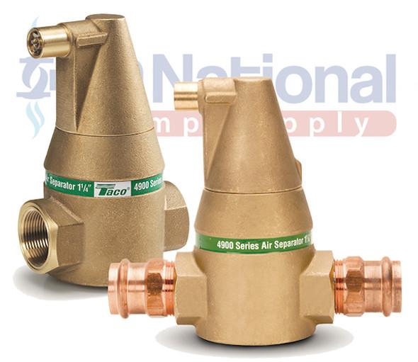 "49-125P-1 Taco 1-1/4"" Press 4900 Series Bronze Body Air Separator"