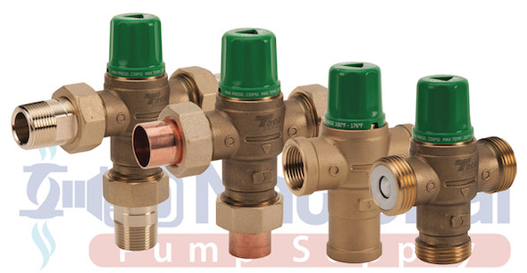 "5003-T3-G Taco Mixing Valve 3/4"" NPT MaleUnion Connections W/Gauge"