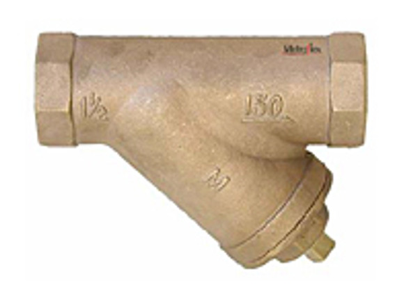 """Sale Metraflex BSJC0050 1/2"""" Bronze Sweat Y Strainer 20"""
