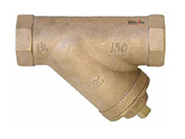 """Sale Metraflex BSJC0150 1-1/2"""" Bronze Sweat Y Strainer 20"""