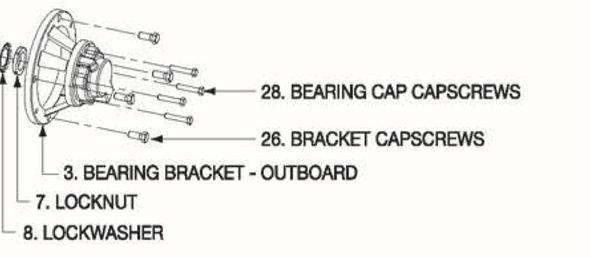 P5001017 Bell & Gossett Outboard Bearing Bracket