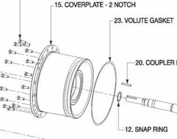 P5001127 Bell & Gossett VSX/VSC Coverplate 2 Notch