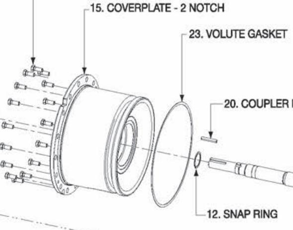 P5001173 Bell & Gossett VSX/VSC Coverplate 2 Notch