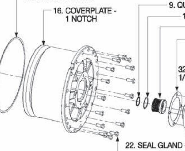 P5001185 Bell & Gossett VSX/VSC Coverplate 1 Notch
