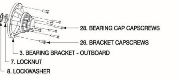 P5001075 Bell & Gossett VSX Series Outboard Bearing Bracket