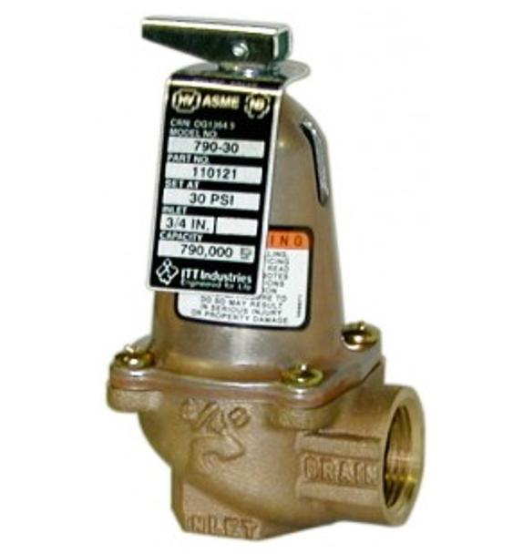 Bell & Gossett 110121 30 PSI Bronze Pressure Relief Model 790-30