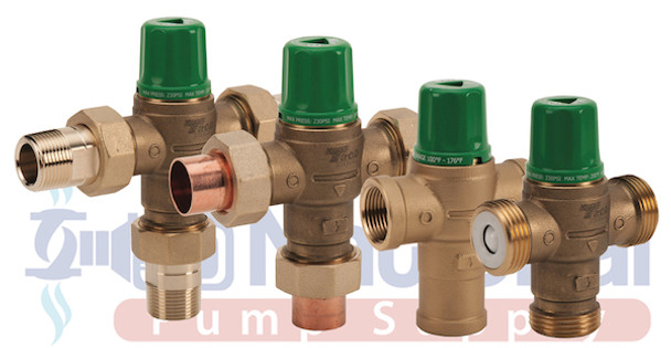 """5003-T3-G Taco Mixing Valve 3/4"""" NPT MaleUnion Connections W/Gauge"""